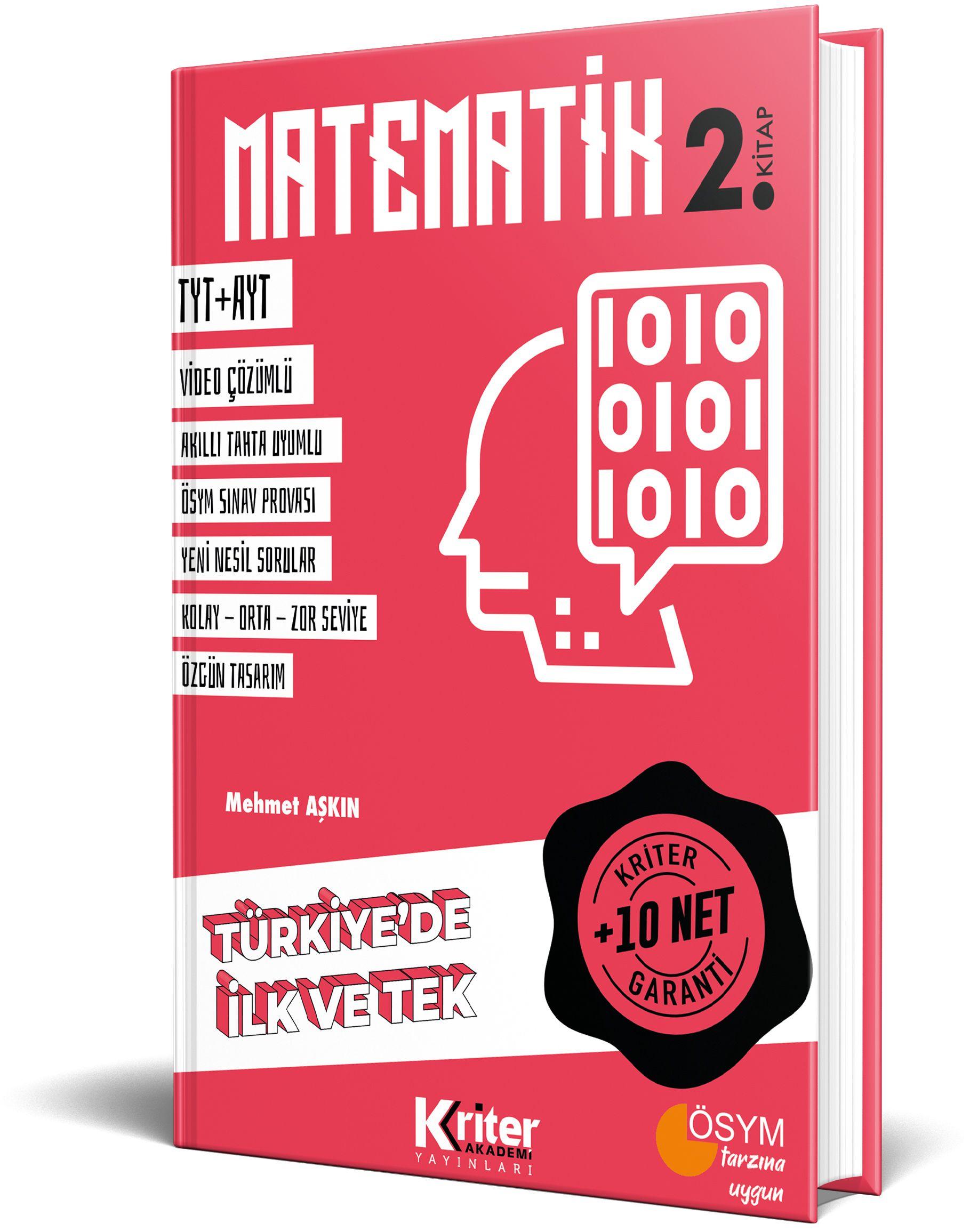 Kriter Akademi 10 Net Garantili <span>Matematik 2</span>